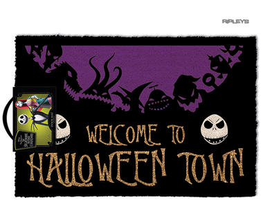 Official Doormat Novelty Gift Nightmare Before Christmas HALLOWEEN Town Jack Preview