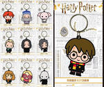 Official HARRY POTTER Rubber Keychain Keyring Novelty Gift CHIBI Characters Thumbnail 1