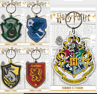 Official HARRY POTTER Rubber Keychain Keyring Novelty Gift HOGWARTS Houses Preview