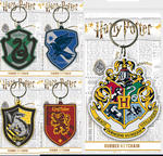 Official HARRY POTTER Rubber Keychain Keyring Novelty Gift HOGWARTS Houses Thumbnail 1