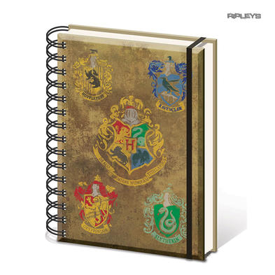 Official HARRY POTTER Notebook Journal HOGWARTS House Crests Stationery Gift