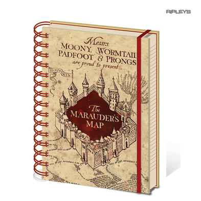 Official HARRY POTTER Notebook Journal MARAUDERS MAP Stationery Gift