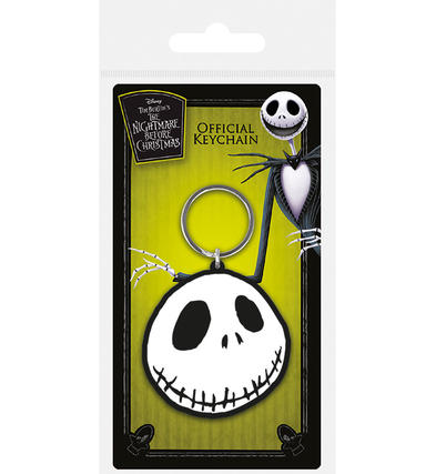 Official Nightmare Before Christmas Rubber Keychain Keyring Gift JACK FACE