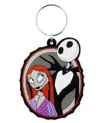 Official Nightmare Before Christmas Rubber Keychain Keyring Gift JACK & SALLY Thumbnail 2