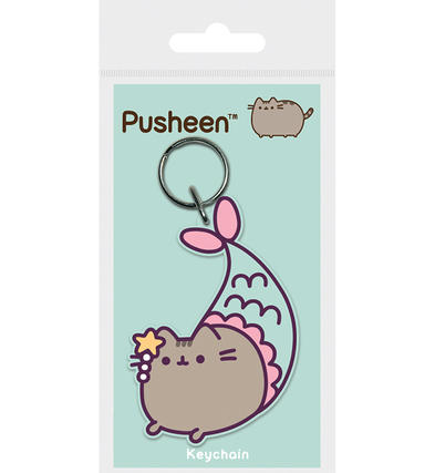 Official PUSHEEN The Cat Emoji Rubber Keyring Keychain Novelty Gift PURRMAID
