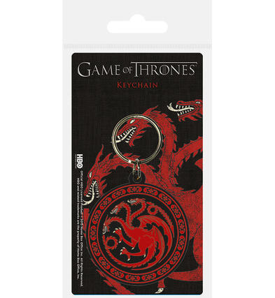 Official GAME OF THRONES Rubber Keyring Keychain Gift TARGARYEN House Preview