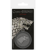 Official GAME OF THRONES Rubber Keyring Keychain Gift STARK House Thumbnail 1