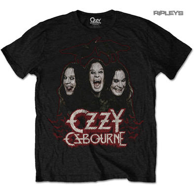 Official T Shirt OZZY Osbourne Black Sabbath 'Crow & Bats' All Sizes