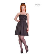 Hell Bunny Summer Prom 50s Mini Dress MARVELETTE Black Flowers All Sizes Thumbnail 1