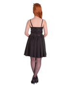 Hell Bunny Summer Prom 50s Mini Dress MARVELETTE Black Flowers All Sizes Thumbnail 4