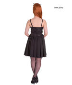 Hell Bunny Summer Prom 50s Mini Dress MARVELETTE Black Flowers All Sizes Thumbnail 3