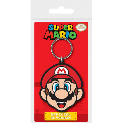 Official SUPER MARIO 64 Nintendo Game Rubber Keyring Chain Gift Mario