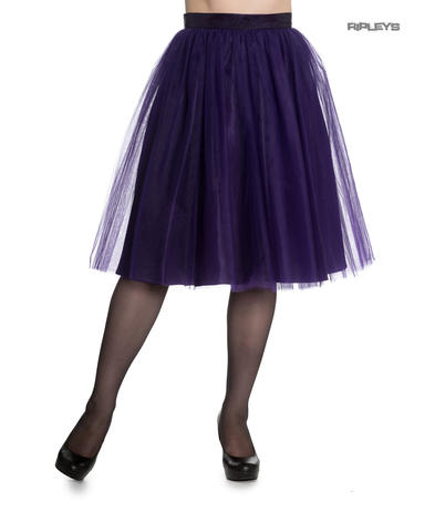 Hell Bunny Princess Fairy 50s Skirt BALLERINA Purple Tulle Net All Sizes