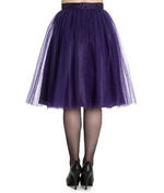 Hell Bunny Princess Fairy 50s Skirt BALLERINA Purple Tulle Net All Sizes Thumbnail 4
