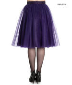 Hell Bunny Princess Fairy 50s Skirt BALLERINA Purple Tulle Net All Sizes Thumbnail 3