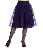 Hell Bunny Princess Fairy 50s Skirt BALLERINA Purple Tulle Net All Sizes Thumbnail 2