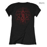Official Black Skinny SLIPKNOT Ladies T Shirt  Metal 'Evil Witch' All Sizes Thumbnail 3