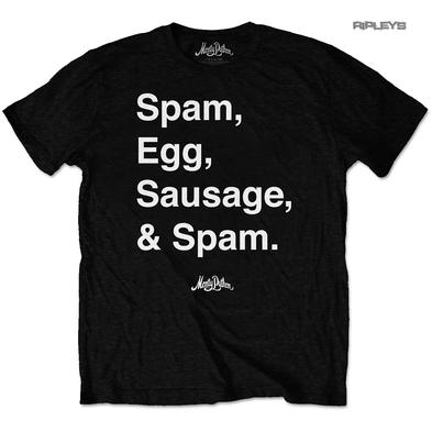 Official T Shirt MONTY PYTHON Flying Circus 'Spam Egg Sausage & Spam' All Sizes