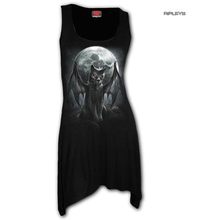 Spiral Ladies Vest Gothic Vampire VAMP CAT Camisole Dress/Top All Sizes