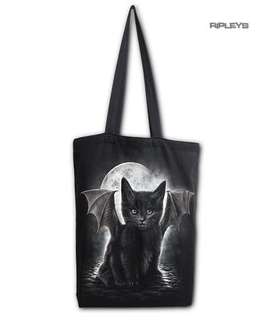Spiral Ladies Gothic Vampire BAT CAT Canvas Tote Bag 4 Life