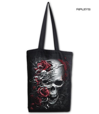 Spiral Ladies Gothic Vampire SKULL & ROSES Canvas Tote Bag 4 Life
