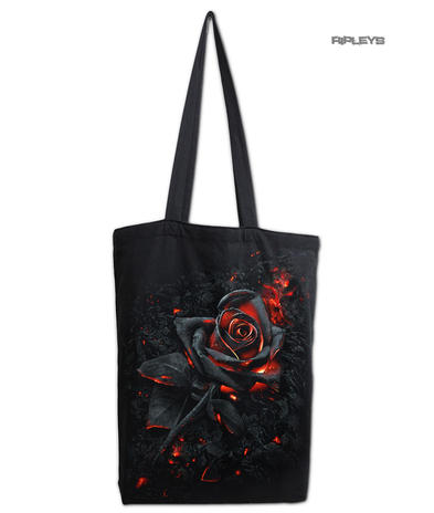 Spiral Ladies Gothic Vampire BURNT ROSE Canvas Tote Bag 4 Life