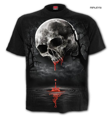 Spiral Direct Unisex T Shirt Vampire Goth DEATH MOON Blood Drip Skull All Sizes