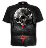 Spiral Direct Unisex T Shirt Vampire Goth DEATH MOON Blood Drip Skull All Sizes Thumbnail 2