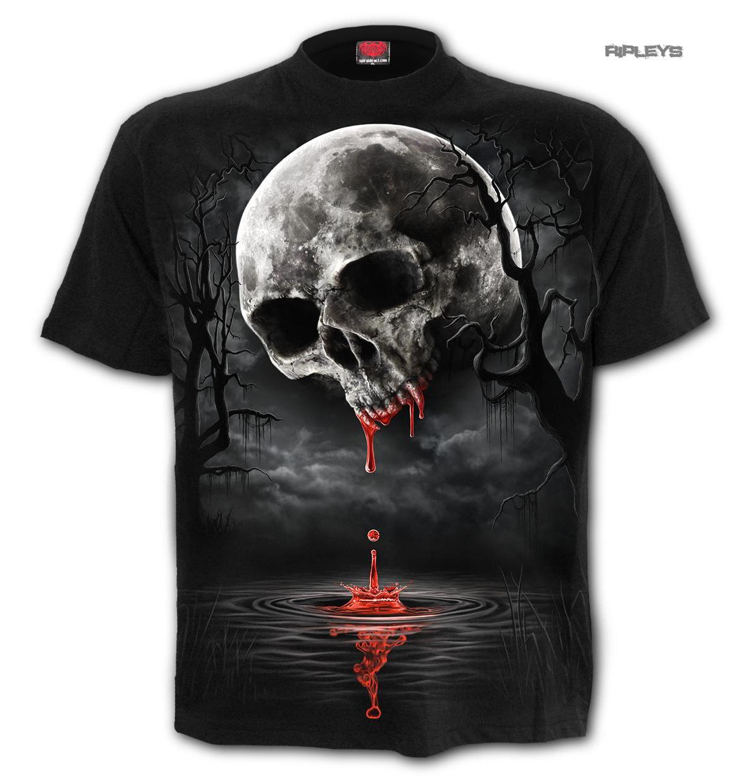 Spiral-Direct-Unisex-T-Shirt-Vampire-Goth-DEATH-MOON-Blood-Drip-Skull-All-Sizes thumbnail 8