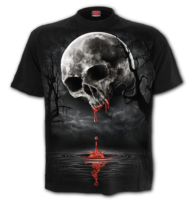 Spiral-Direct-Unisex-T-Shirt-Vampire-Goth-DEATH-MOON-Blood-Drip-Skull-All-Sizes thumbnail 11