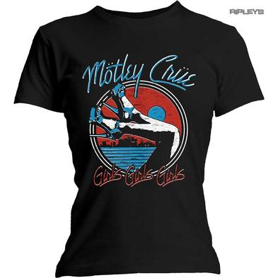 Official Ladies T Shirt Metal Rock MOTLEY CRUE 'Heels V.3' The Dirt All Sizes