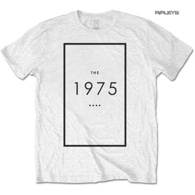 Official T Shirt THE 1975 Rock Band  Original LOGO White All Sizes