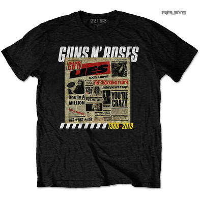 Official T Shirt Guns n Roses 30th Anniversary LIES Track List All Sizes