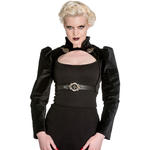 Hell Bunny Spin Doctor Goth Steampunk Top LORENA Velvet Bolero All Sizes Thumbnail 2