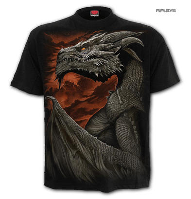SPIRAL Direct Unisex T Shirt Biker Goth MAJESTIC DRACO Dragon All Sizes