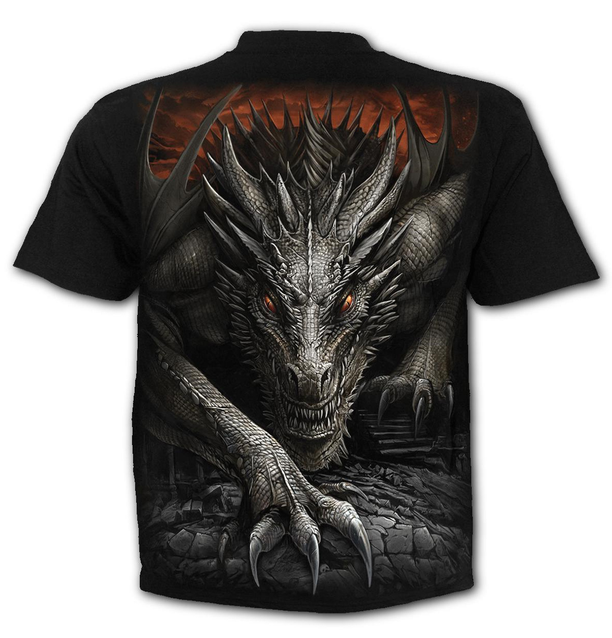 SPIRAL-Direct-Unisex-T-Shirt-Biker-Goth-MAJESTIC-DRACO-Dragon-All-Sizes thumbnail 5