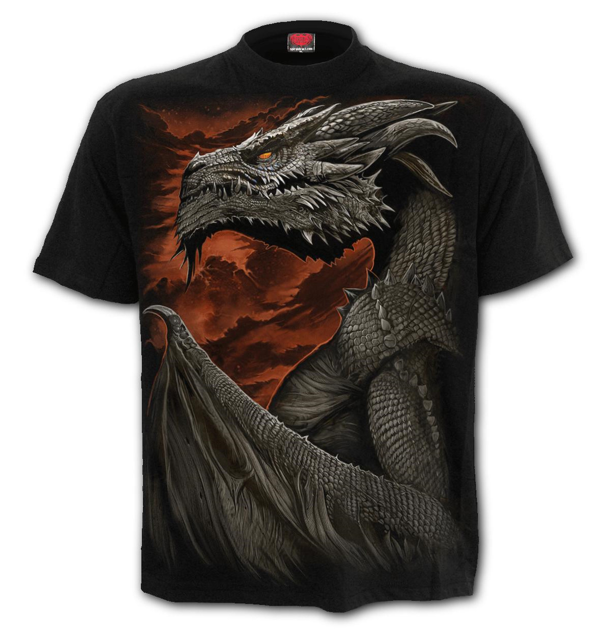 SPIRAL-Direct-Unisex-T-Shirt-Biker-Goth-MAJESTIC-DRACO-Dragon-All-Sizes thumbnail 3