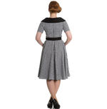Hell Bunny 40s 50s Pin Up Swing Dress Black White BRIDGET Gingham All Sizes Thumbnail 4
