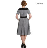 Hell Bunny 40s 50s Pin Up Swing Dress Black White BRIDGET Gingham All Sizes Thumbnail 3