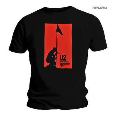 Official T Shirt Classic Rock  U2  Album Cover  'Blood Red Sky' All Sizes