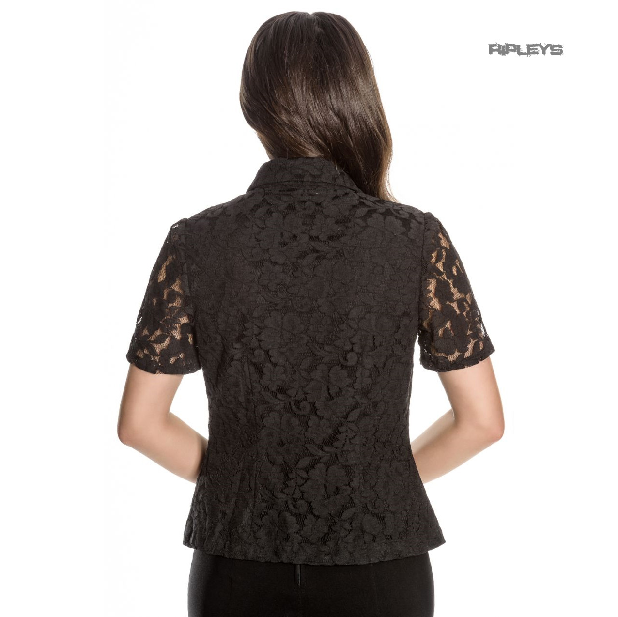 Hell-Bunny-Spin-Doctor-Vampire-Gothic-Shirt-Top-ROWENA-Lace-Blouse-All-Sizes Indexbild 4