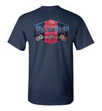 Official WELDERUP Garage Custom Hot Rod Car T Shirt 'GAS & OIL' Blue All Sizes Thumbnail 4