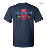 Official WELDERUP Garage Custom Hot Rod Car T Shirt 'GAS & OIL' Blue All Sizes Thumbnail 3