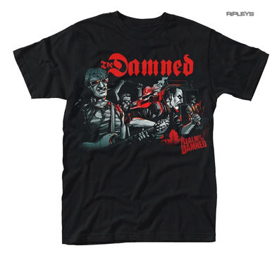 Official T Shirt Black THE DAMNED Punk Rock 'Realm of the Damned' All Sizes