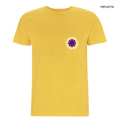 Official T Shirt RED HOT CHILI PEPPERS Yellow 'Los Chili 83' Asterisk All Sizes