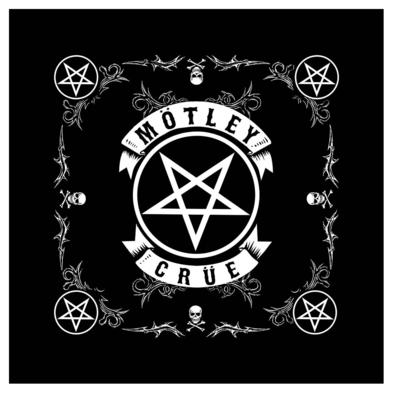 Official MOTLEY CRUE The Final Tour 1981 - 2015  BANDANA Pentagram