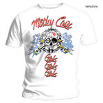 Official T Shirt MOTLEY CRUE White 'Vintage Spark Plug GGG' All Sizes Thumbnail 1