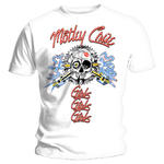 Official T Shirt MOTLEY CRUE White 'Vintage Spark Plug GGG' All Sizes Thumbnail 2