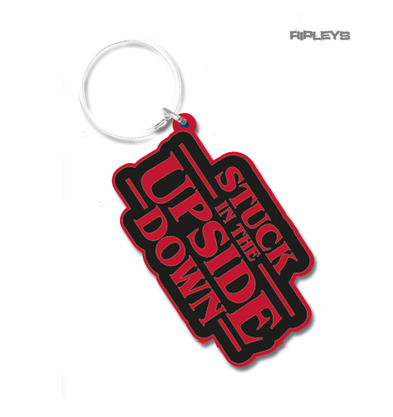 Stranger Things Keyring Logo Official Merchandise 'Stuck in the Upside Down'