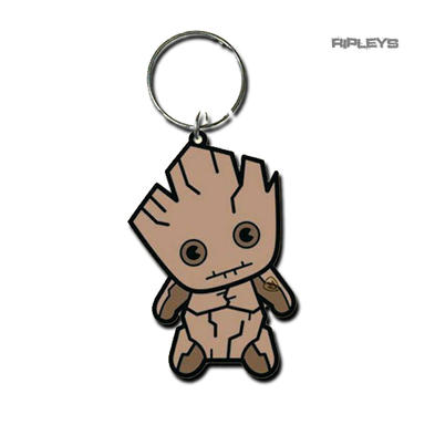 Official Guardians of the Galaxy I AM GROOT Rubber Keyring Keychain Gift